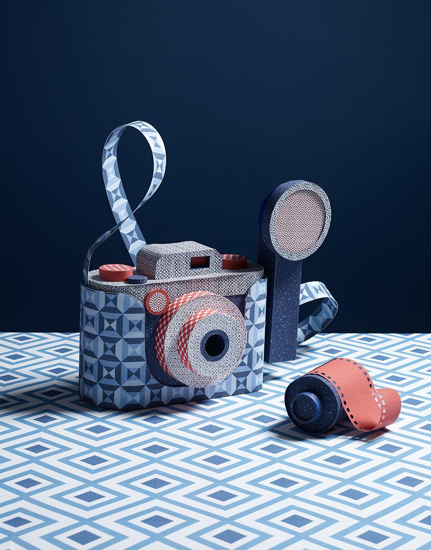 kamera i papir